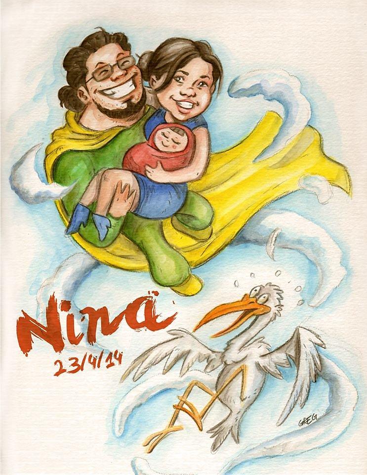 faire-part de naissance Nina